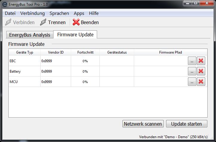 Firmware Update using EnergyBus Tool Pro