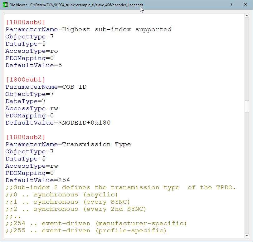 Screenshot emotas EDS View